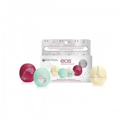 EOS Vánoční set balzámů na rty - Decorative Lip Balm Collection