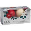 EOS Set balzámů Vánoční limitovaná edice -Vánoční ovoce + Vanilkový lusk